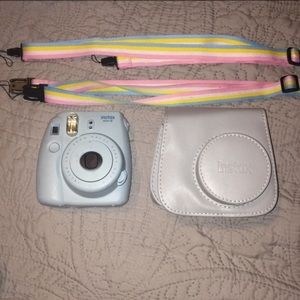 Instax 8 with case and matching straps